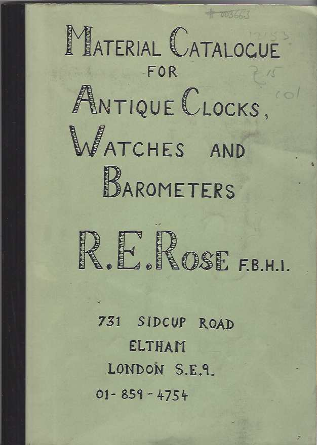 Image for Material Catalogue for Antique Clocks, Watches and Barometers