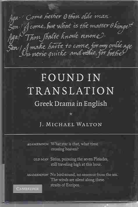Image for Found in Translation - Greek drama in English