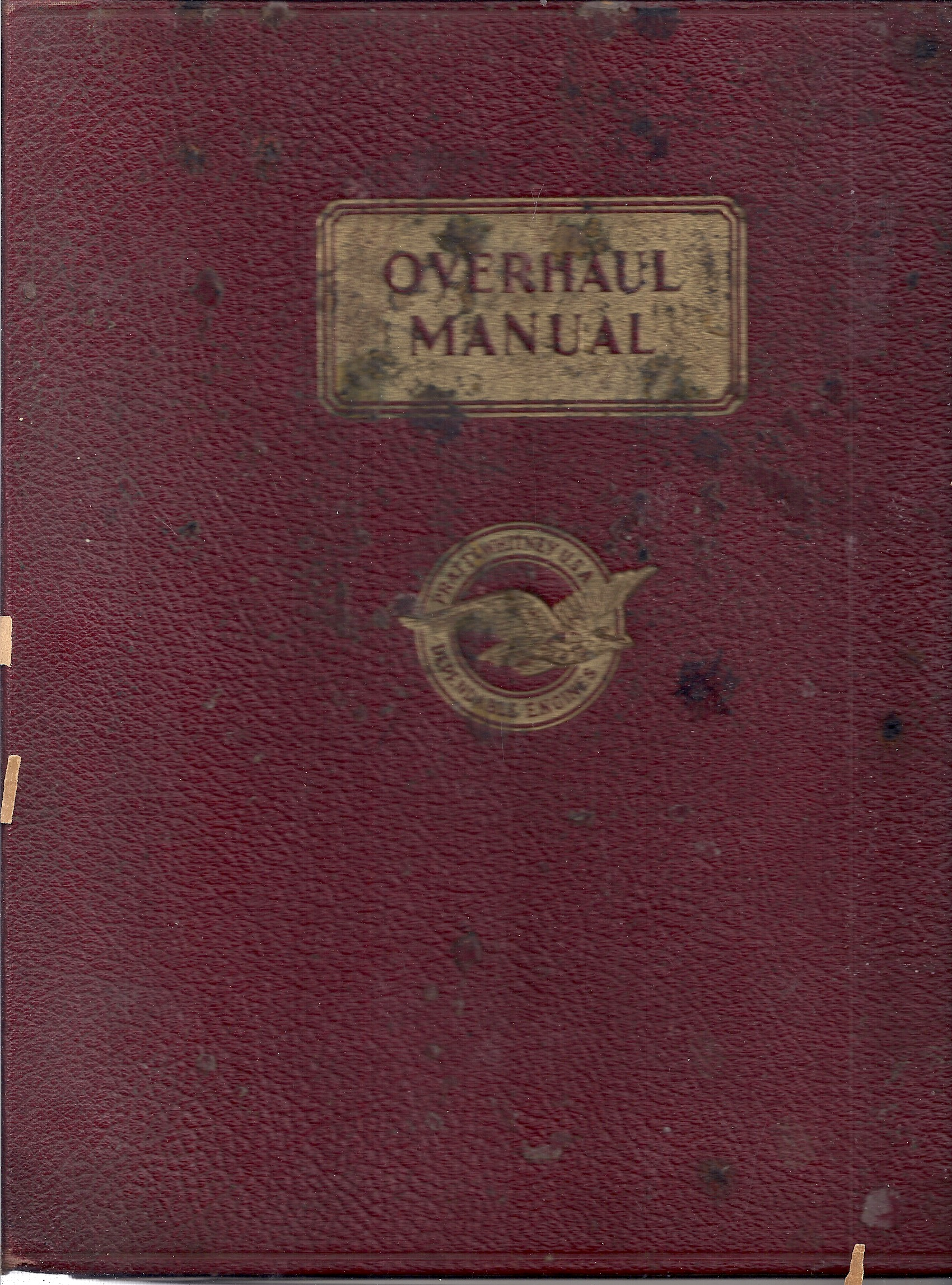 Image for Overhaul Manual (Part No 46966). Fourth Edition. Twin Wasp C Series Engines