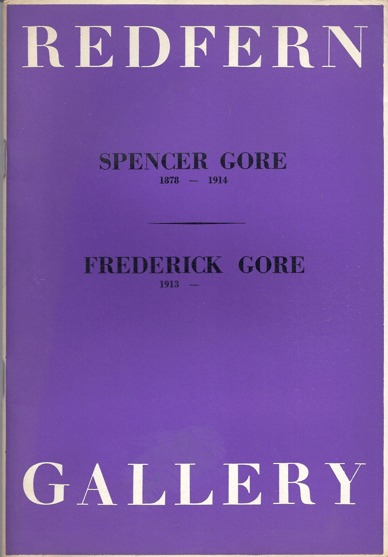 Image for Spencer Gore (1878-1914) / Frederick Gore (1913-)