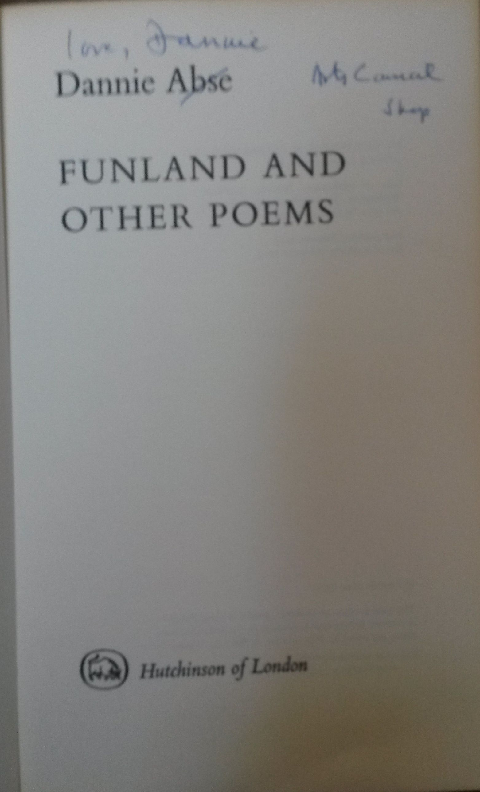 Image for Funland and Other Poems [signed copy]