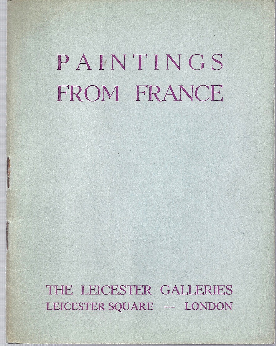 Image for Catalogue of an Exhibition of Paintings from France. Exhibition No. 1018, November 1953