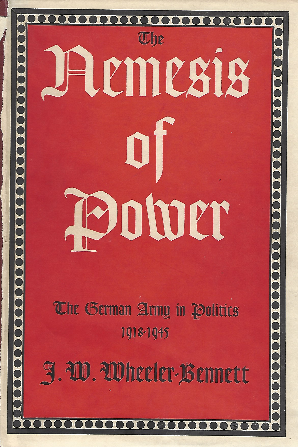 Image for The Nemesis of Power
