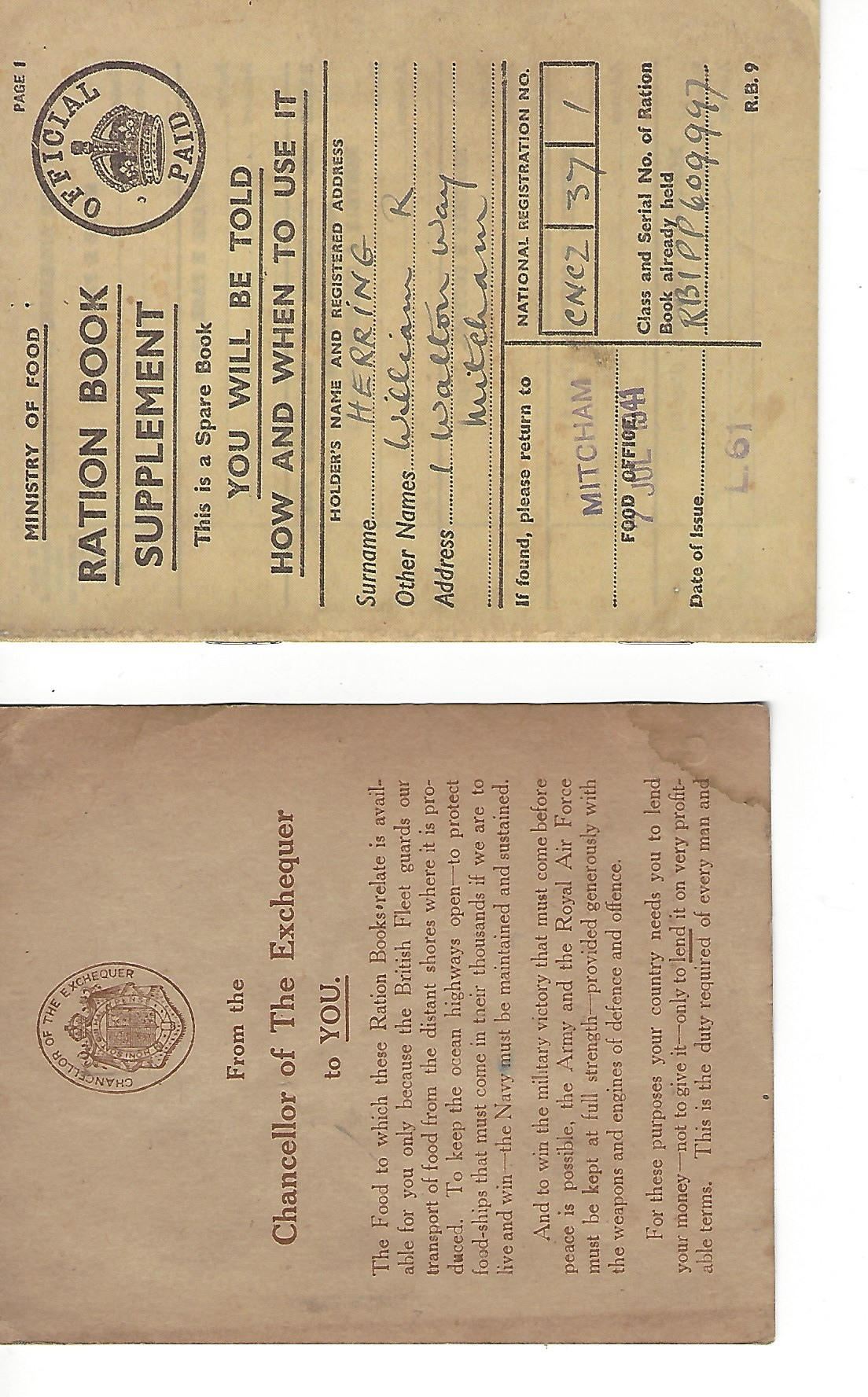 Image for Ration Book Supplement