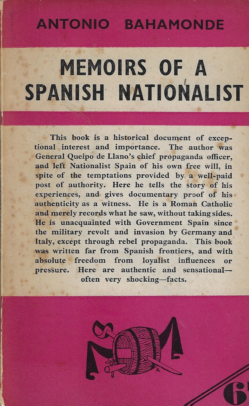 Image for Memoirs of a Spanish nationalist.