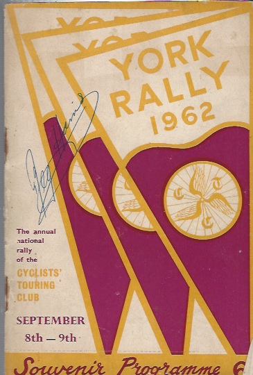 Image for York Rally 1962 - The Annual Rally of the Cyclists' Touring Club, September 8th-9th. Souvenir Programme.