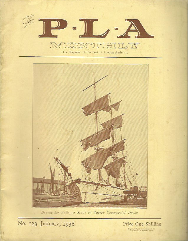 Image for The P.L.A. Monthly - The Magazine of the Port of London Authority, No 123, January 1936