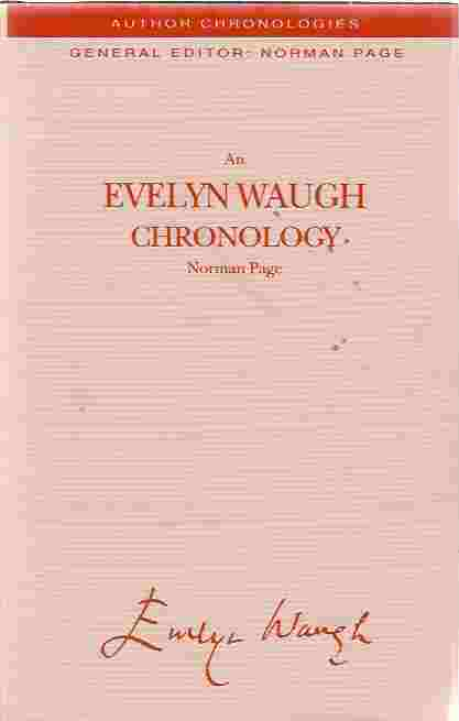 Image for An Evelyn Waugh Chronology