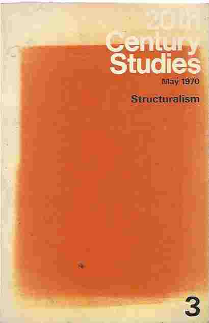 Image for 20th Century Studies, No. 3, May 1970 - Structuralism