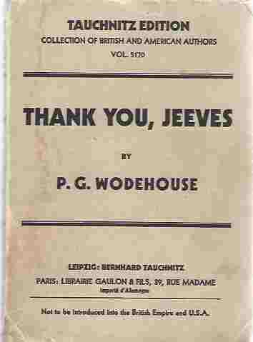 Image for Thank You Jeeves