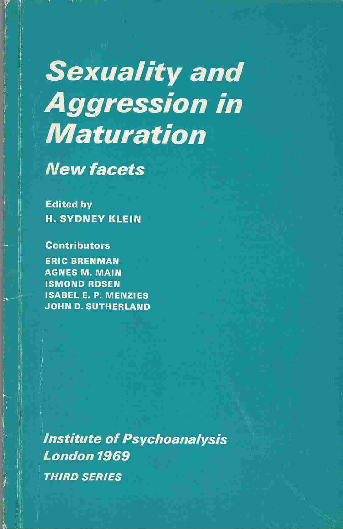 Image for Sexuality and Aggression in Maturation