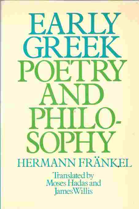 Image for Early Greek Poetry and Philosophy