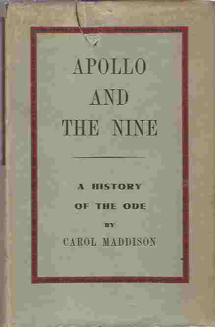 Image for Apollo and the Nine  A history of the ode