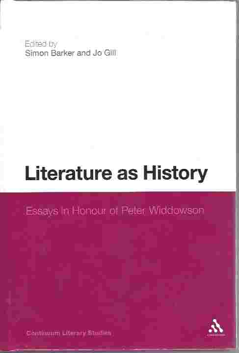Image for Literature as History  Essays in Honour of Peter Widdowson