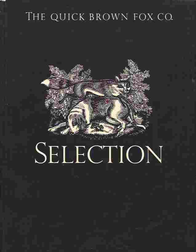 Image for Selection. Catalogue of Typefaces