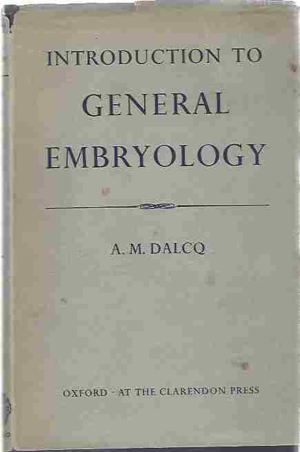 Image for Introduction to general embryology