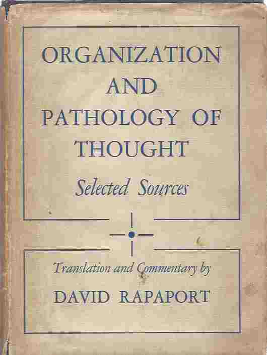 Image for Rapaport  Organization and Pathology of Thought