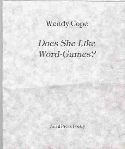 Image for Does She Like Word-Games? [signed copy]
