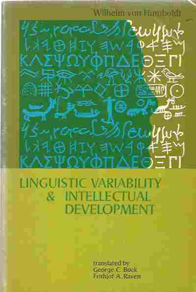 Image for Linguistic Variability and Intellectual Development
