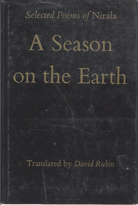Image for Selected Poems of Nirala, a Season on the Earth