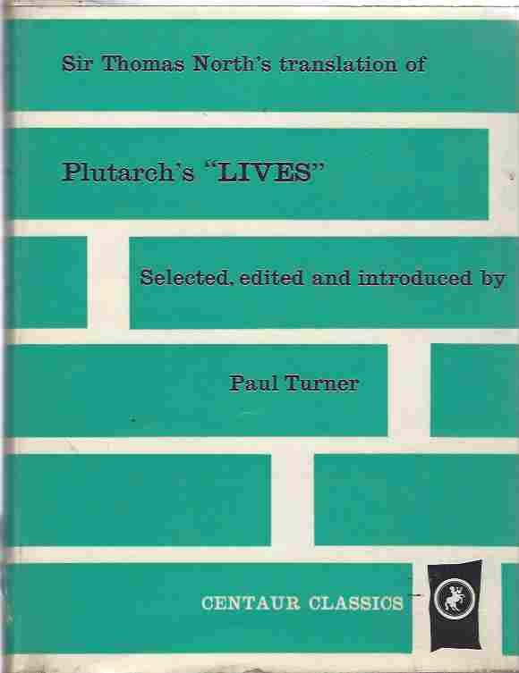 Image for Plutarch's Lives Sir Thomas North's translation