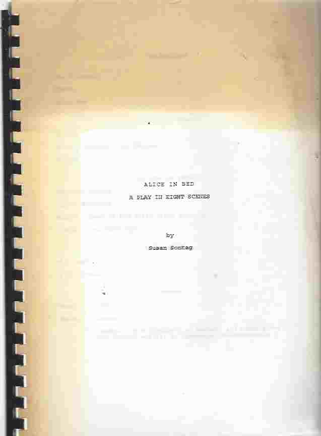Image for Alice in Bed : A Play in Eight Scenes. Early typescript copy