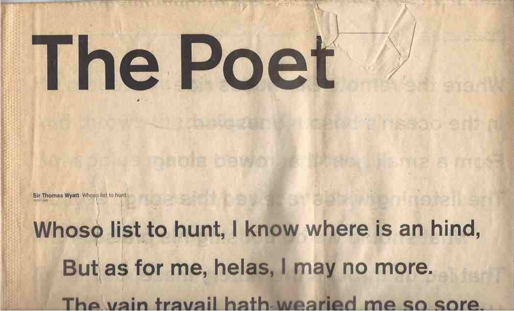 The Poet. Landscape poetry from 1350 -- 1918.