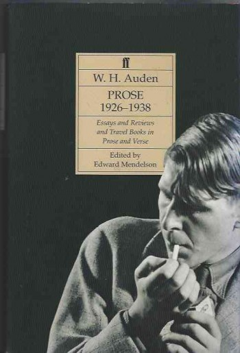 Image for Auden's Prose 1926-38 V. 1