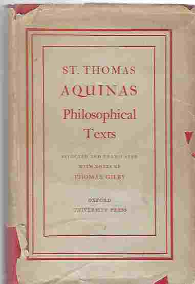Image for Philosophical Texts Selected and Translated with Notes and an Introduction by Thomas Gilby