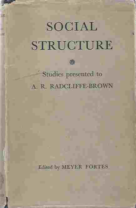 Image for Social Structure Essays Presented to A. R. Radcliffe-Brown.