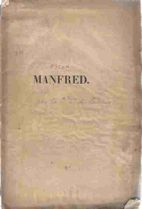 Image for Manfred : Poeme Dramatique