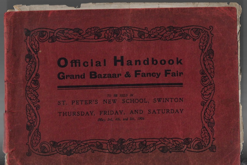 Image for Official Handbook -- Grand Bazaar & Fancy Fair -- To Be Held In St. Peter's New School, Swinton -- Thursday, Friday, And Saturday -- May 3rd, 4th, and 5th, 1906