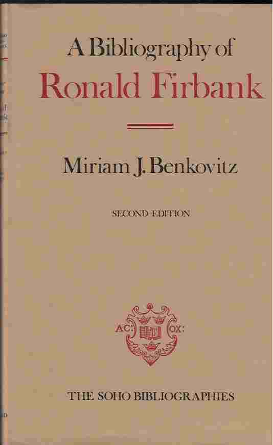 Image for A Bibliography of Ronald Firbank
