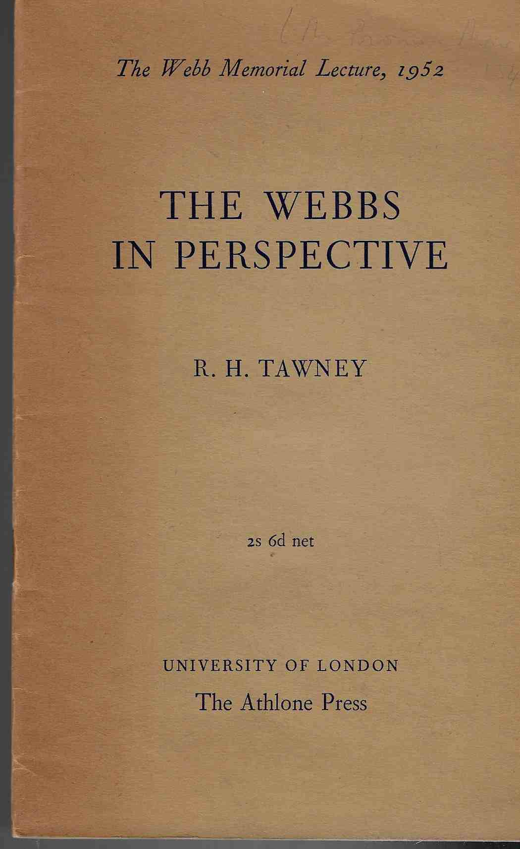 Image for The Webbs in Perspective (The Webb Memorial Lecture, 1952)