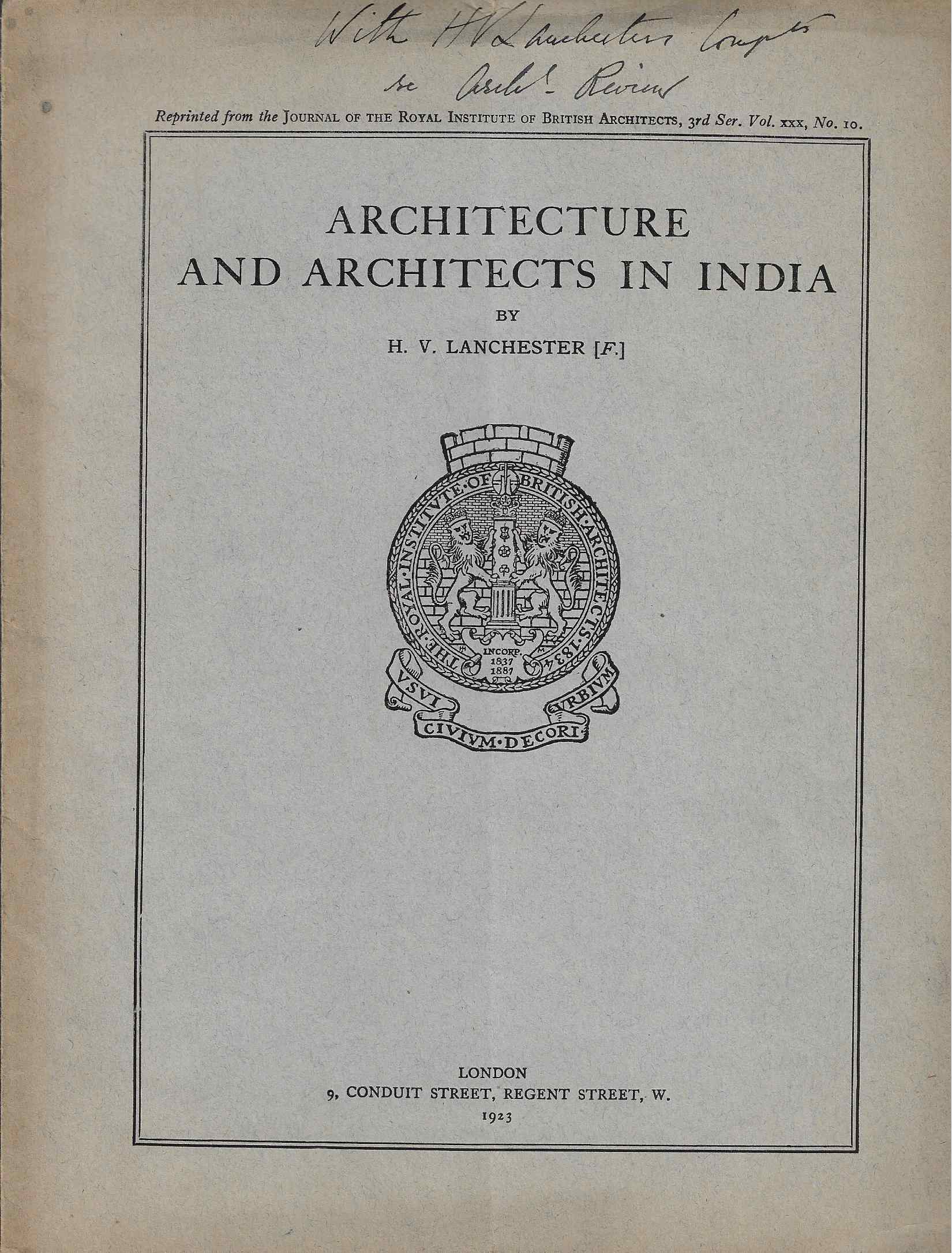 Image for Architecture and Architects in India