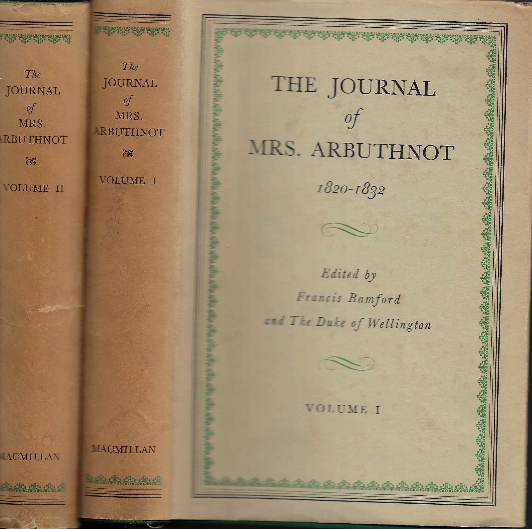 Image for The Journals of Mrs. Arbuthnot 1820-1832 [Volume I and II]