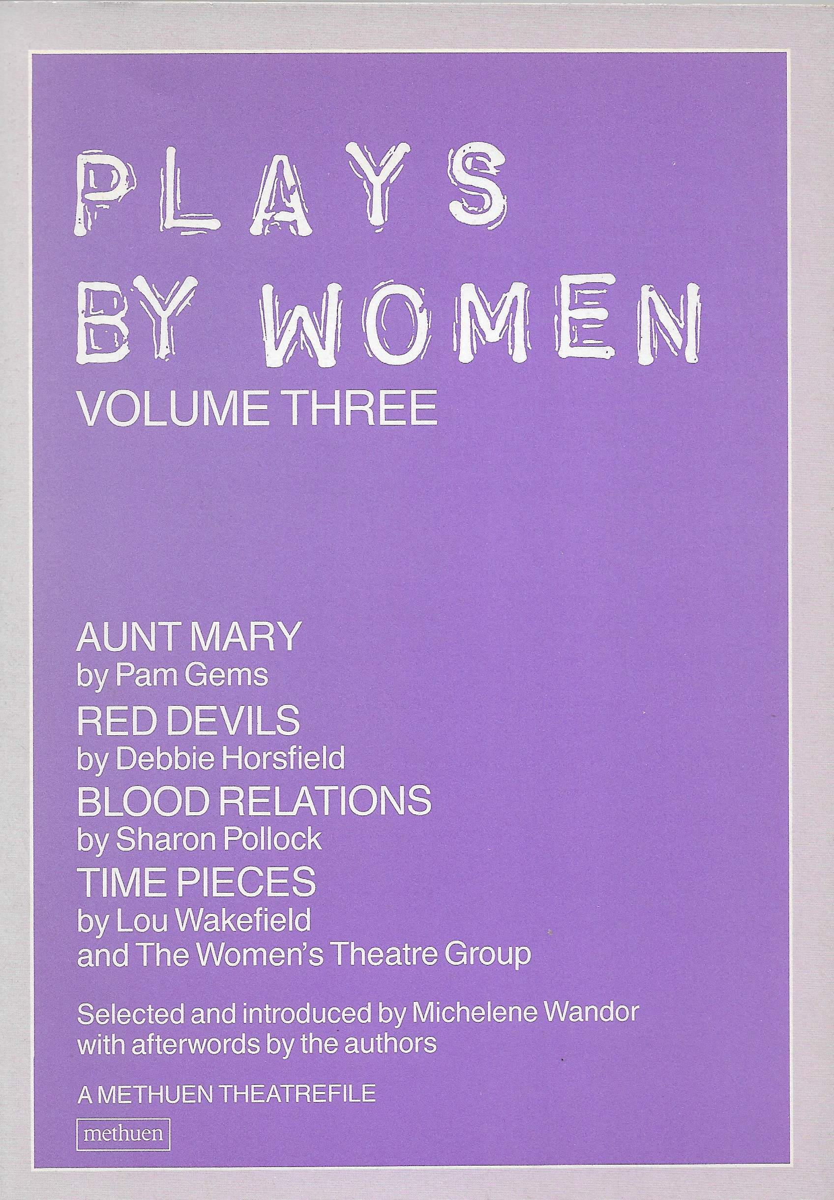 Image for Plays by Women V. 3