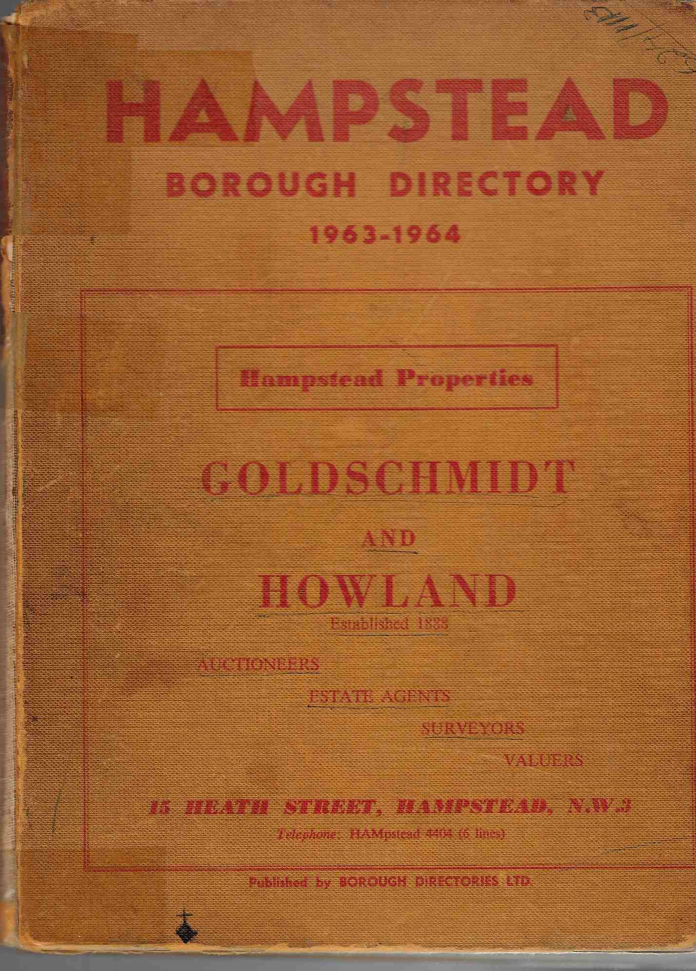 Image for Hampstead Borough Directory 1963-1964