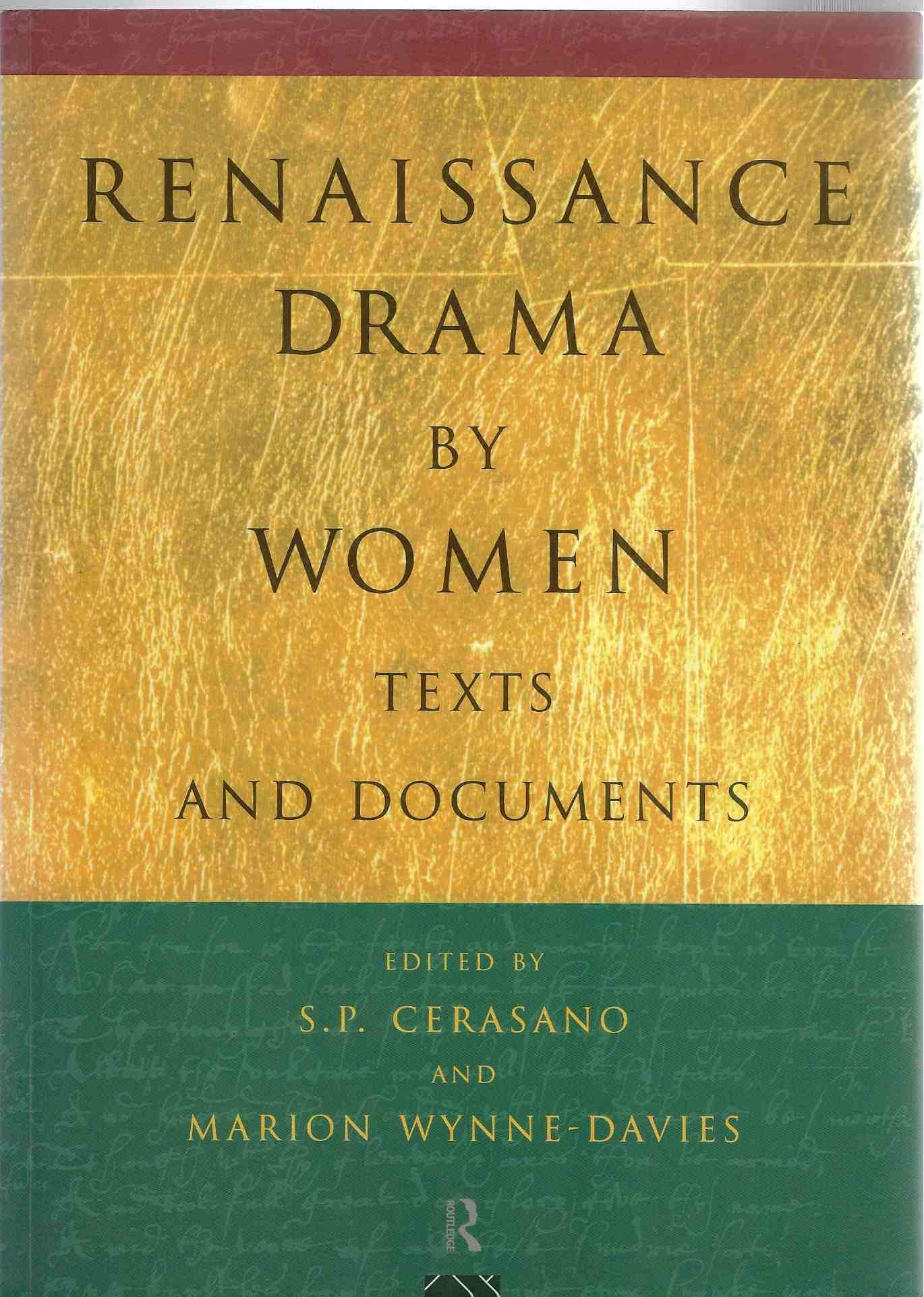 Image for Renaissance Drama by Women Texts and Documents
