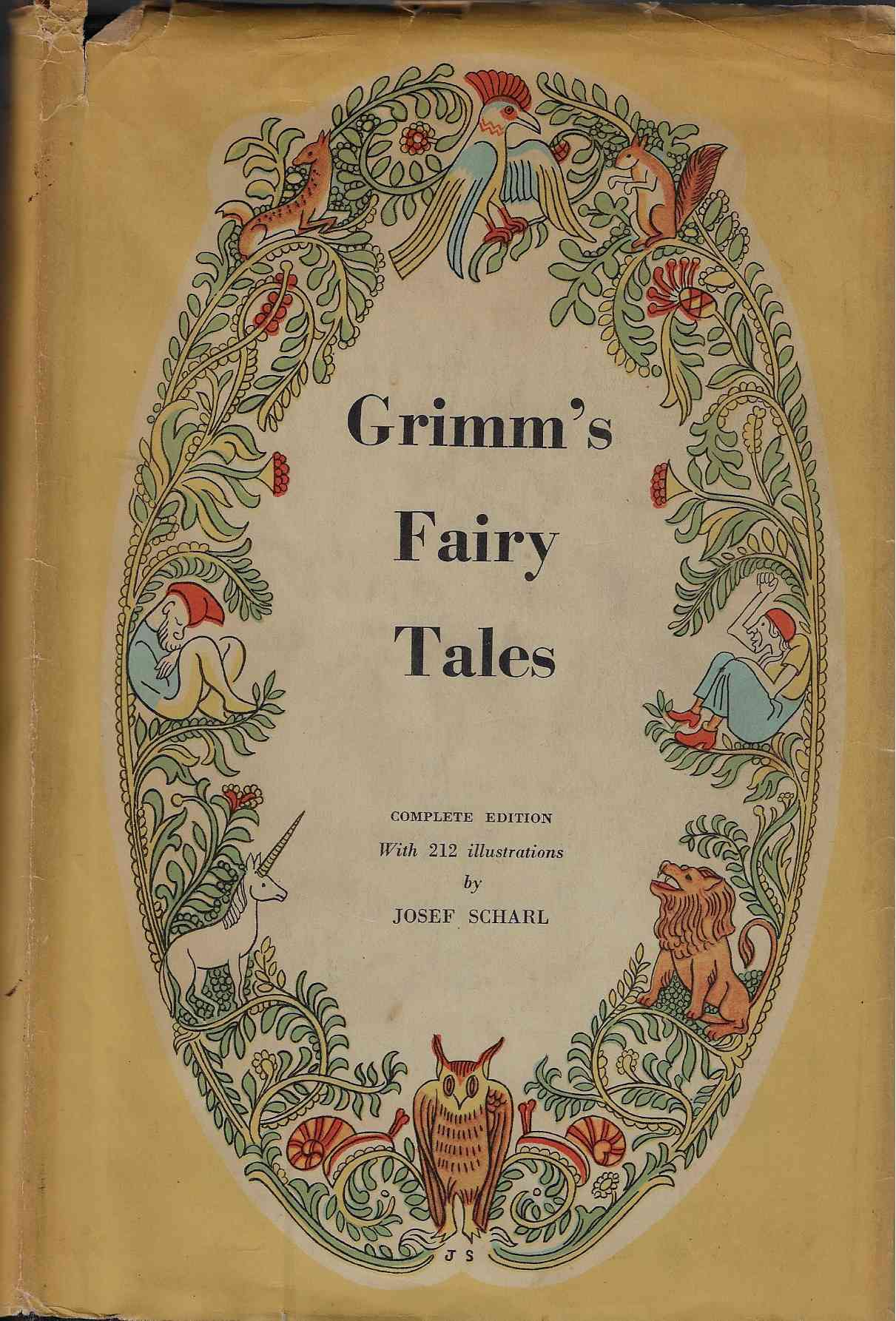 Image for Grimm's Fairy Tales Complete with 212 illustrations by Josef Scharl
