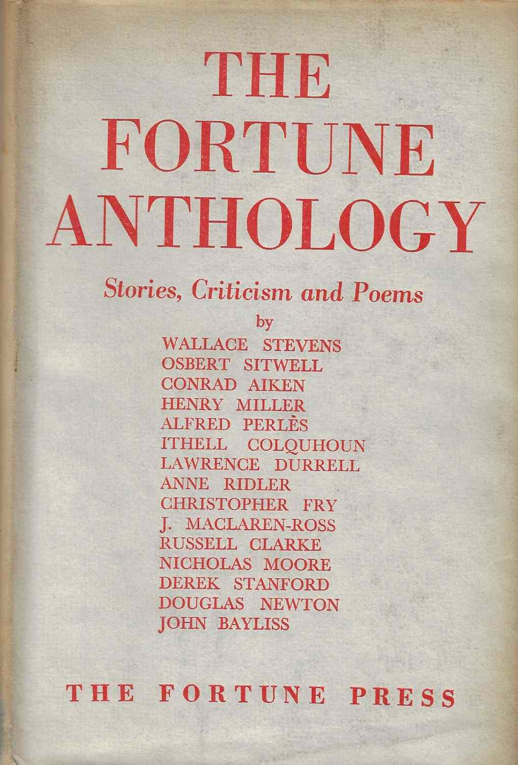 Image for The Fortune Anthology Stories, Criticism and Poems