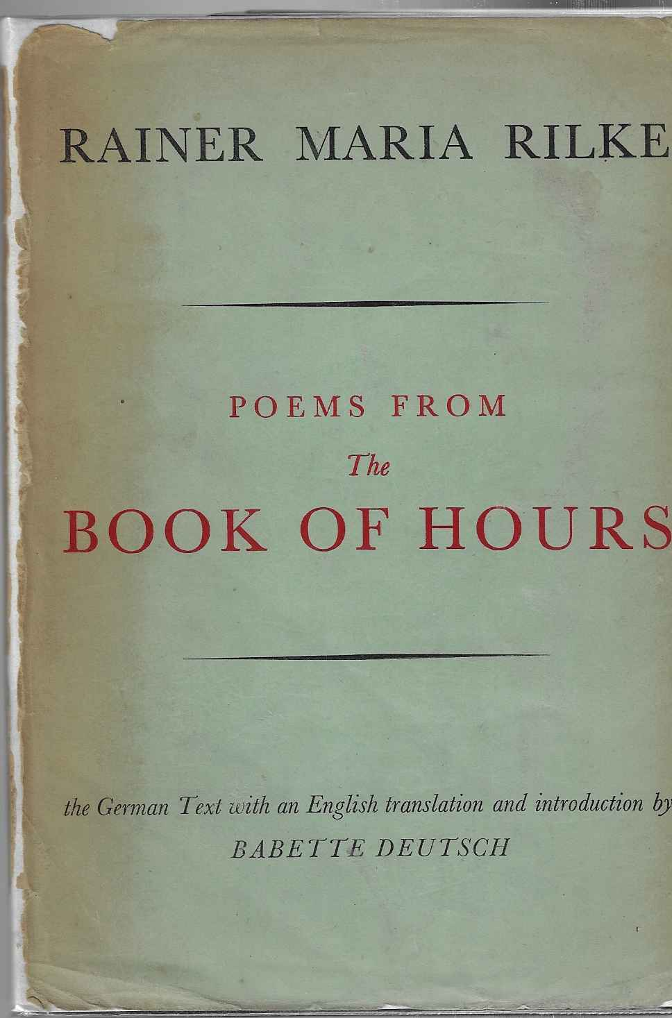 Image for Poems from the Book of Hours