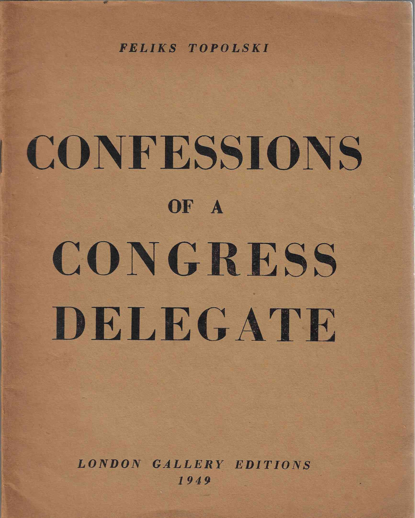 Image for Confessions of a Congress Delegate