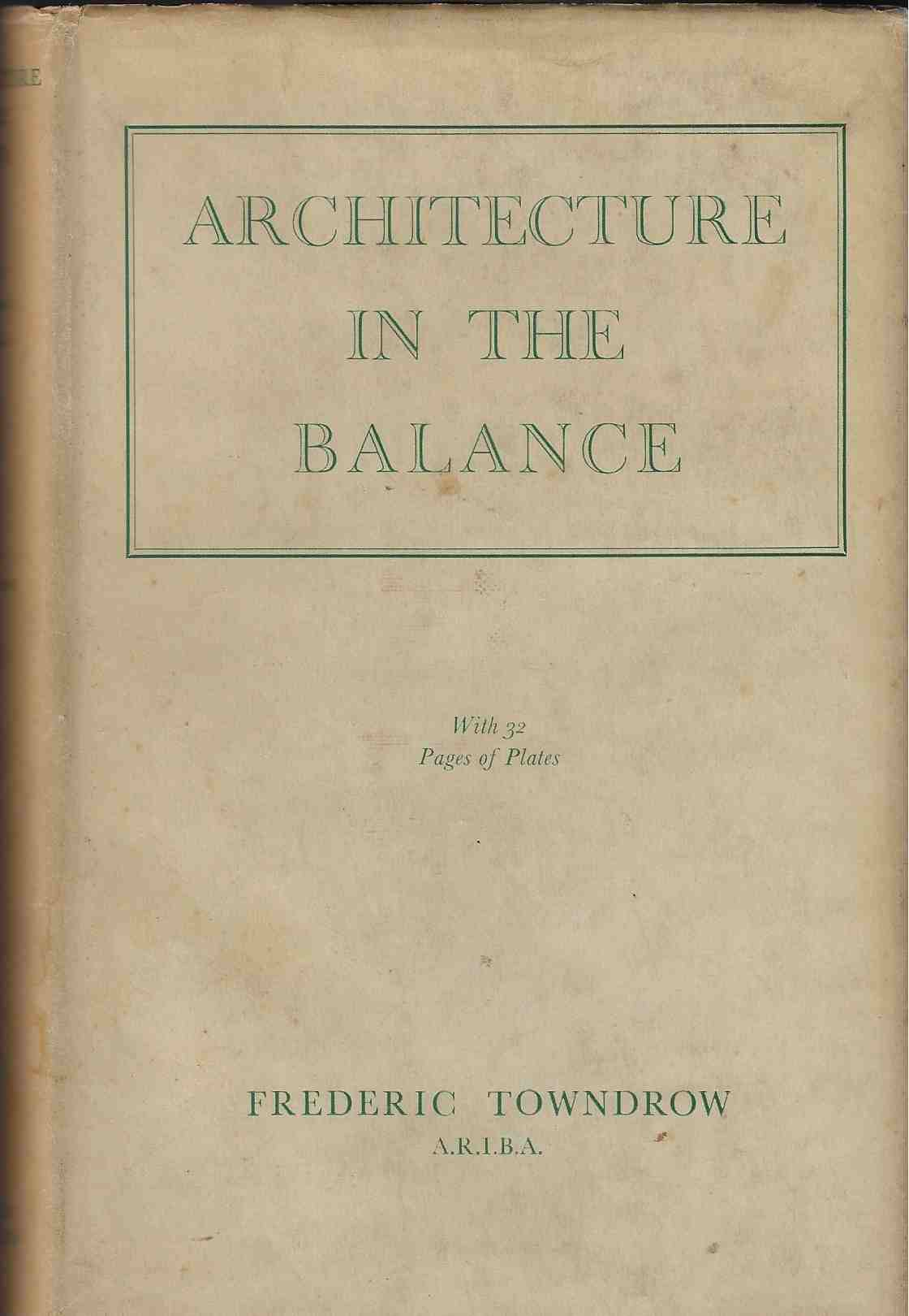 Image for Architecture in the Balance