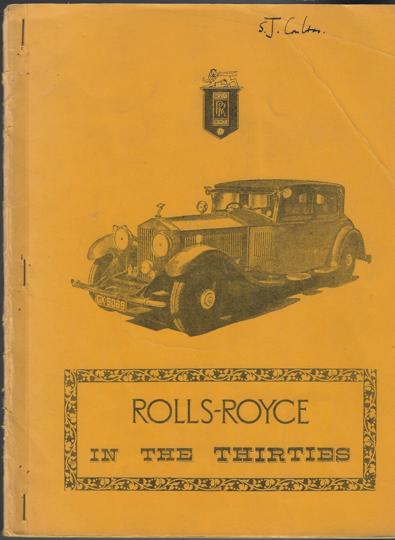 Image for Rolls-Royce in the Thirties