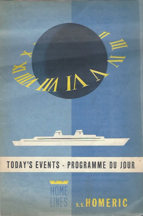 Image for Today's Events - Programme Du Jour - Tuesday, June 4, 1963