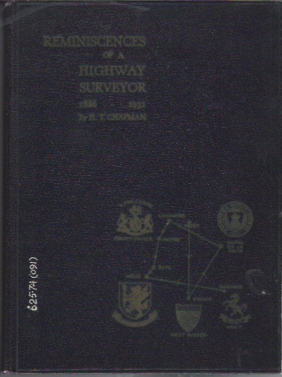Image for Reminiscences of a Highway Surveyor 1886-1932